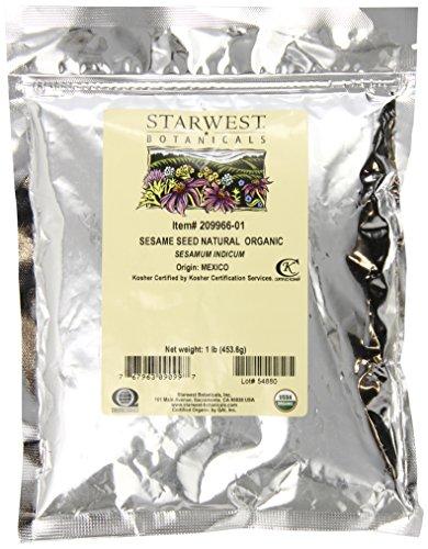 Starwest Botanicals Sesame Seed, Natural Whole, Organic, ...