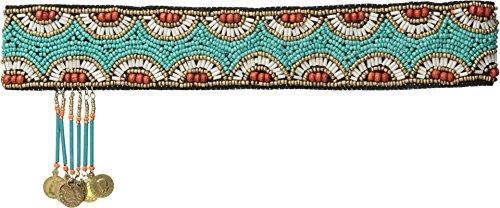 M&F Western Women's Beaded Boho Headband Turquoise Headband One Size