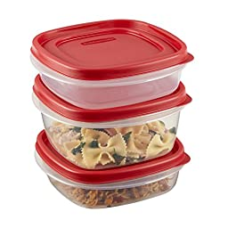 Rubbermaid Easy Find Lids Food Storage Container, 20-Piece Set, Red (1783142)