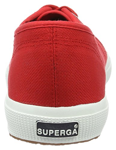 Rot Adulte red white Classic Basses 2750 Cotu Superga Mixte Baskets gwO0qY