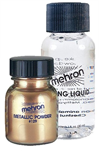 Metallic Powder .17 oz with Mixing Liquid 1 oz - Gold