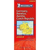 Carte routière : Allemagne, Bénélux, Autriche, Répubilque Tchèque, N°11719
