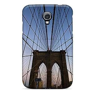 Galaxy S4 Case Cover Skin : Premium High Quality Web Of The Brooklyn Bridge Case