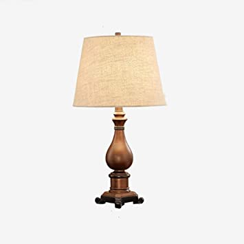 QqHAO Lampe de Table de Chambre à Coucher Américaine rétro créative ...