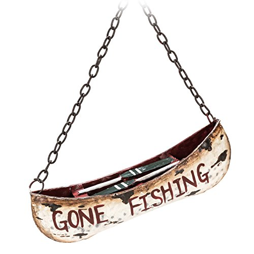 Abbott Collection 27-LODGE/6392 Gone Fishing Canoe Ornament-5