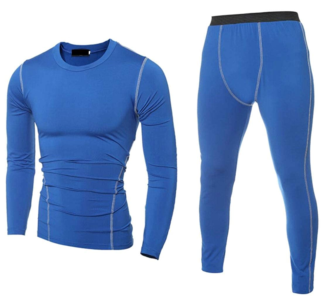 Mens Two Piece Set Running Set Quick Dry Gym Fitness Shirt and Pants Jogging Sportswear
