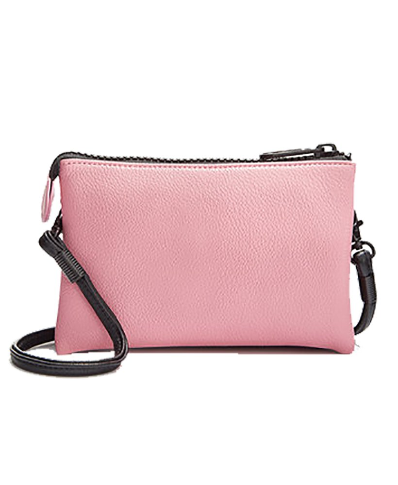 Love Bravery by Lady Gaga and Elton John Crossbody Pouch, Black/Pink, One Size