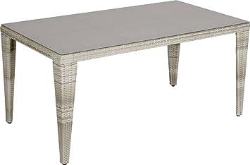 Amazon De Trendline Dining Tisch Sunrise 160 X 90 Cm Aluminium