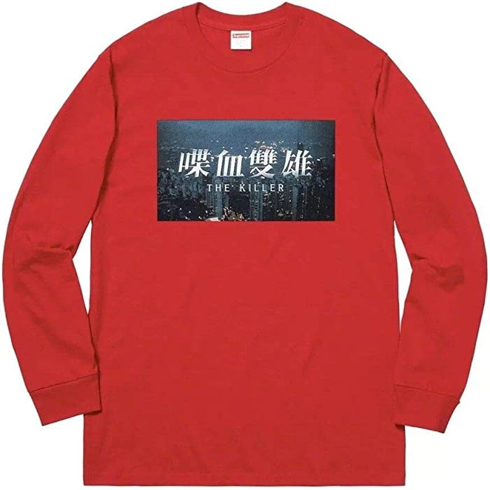9d3a8ad71dda SupremeNewYork Supreme The Killer L/S Tee T-Shirt Red 100% Authentic Real