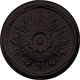 Ekena Millwork CM21LUSHF 21'' OD x 2'' P Luton Ceiling Medallion fits Canopies up to 3 1/2'', Stone Hearth