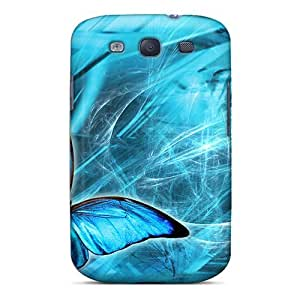 Fashion Tpu Case For Galaxy S3- Blue Butterfly Defender Case Cover
