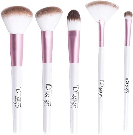 ID Italian Design | Pack de 5 Brochas para Maquillaje Facial, Make up: Amazon.es: Belleza