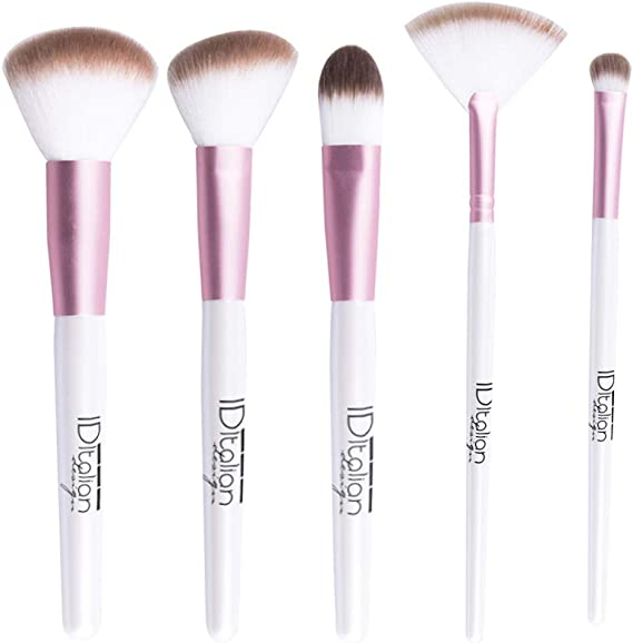 ID Italian Design | Pack de 5 Brochas para Maquillaje Facial, Make up: Amazon.es: Belleza