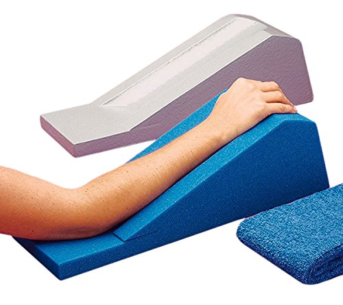 Vinyl Coated Foam (Rolyan Vinyl Coated Arm Support, Arm Rest for Reducing Edema, Foam Block for Arm Swelling and Extremity Pain, Aid for User After Surgery or Injury, Support for Shoulder, Arm, Wrist, and Hand Pain)