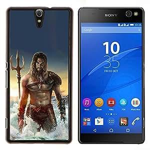 EJOOY---Cubierta de la caja de protección para la piel dura ** Sony Xperia C5 Ultra ** --sexy man músculos abdominales del mar Poseidón