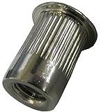 Rivet Nut Rivnut Insert Nutsert 1/4-20 SSKL250-20-165 300 STAINLESS THIN-NUT, LARGE FLANGE, PLAIN FINISH, (PACK OF 10)