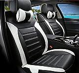 Moonet Front Rear Car Trunk Bucket Seat Cushion Covers PU...