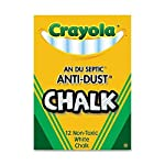 50 Pack CRAYOLA LLC FORMERLY BINNEY & SMITH CHALK ANTI-DUST WHITE 12 CT