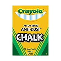 50 Pack CRAYOLA LLC FORMERLY BINNEY & SMITH CHALK ANTI-DUST WHITE 12 CT