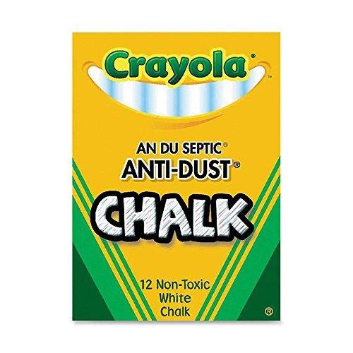 50 Pack CRAYOLA LLC FORMERLY BINNEY & SMITH CHALK ANTI-DUST WHITE 12 CT by Crayola