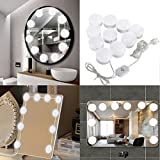 Botrong LED Vanity Mirror Lights Kit with Dimmable Light Bulbs Lighting Fixture Strip for Makeup Vanity Table Set in Dressing Room