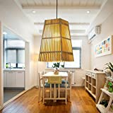 Arturesthome Handmade Wood Pedant Lamp, Solid Wood Ceiling Light