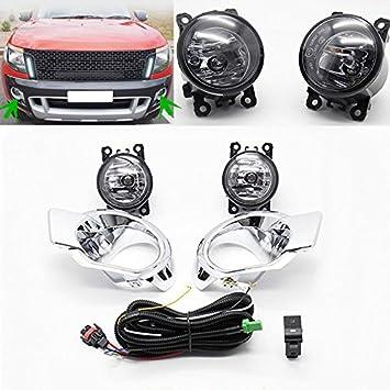 auto-tech antiniebla para Ford Ranger 2012 - 2015 luz antiniebla delantera kit de montaje (1 par): Amazon.es: Coche y moto