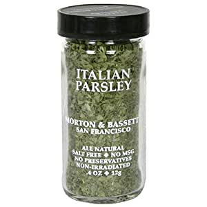 Morton & Bassett Italian Parsley, .4-Ounce Jars (Pack of 3)