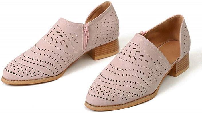 Femme PU Cuir Décontracté Mocassin Style Oxford Casual Épaisse Bloc Talon Chaussures