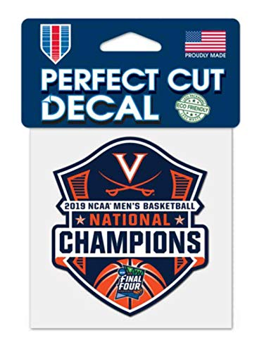 WinCraft Virginia Cavaliers 2019 NCAA Basketball National Champions Perfect Cut Decal