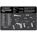 TekMat 11-Inch X 17-Inch Handgun Cleaning Mat with Sig Sauer P226 Imprint, Black