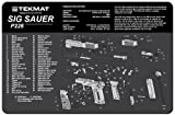 TekMat Sig Sauer P226 Cleaning Mat / 11 x 17 Thick, Durable, Waterproof/Handgun Cleaning Mat with Parts Diagram and Instructions/Armorers Bench Mat/Black and Grey