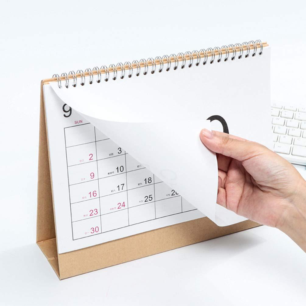s size Amosfun 2020 calendario calendario memo wirebound desktop calendario semplice per ufficio scuola home