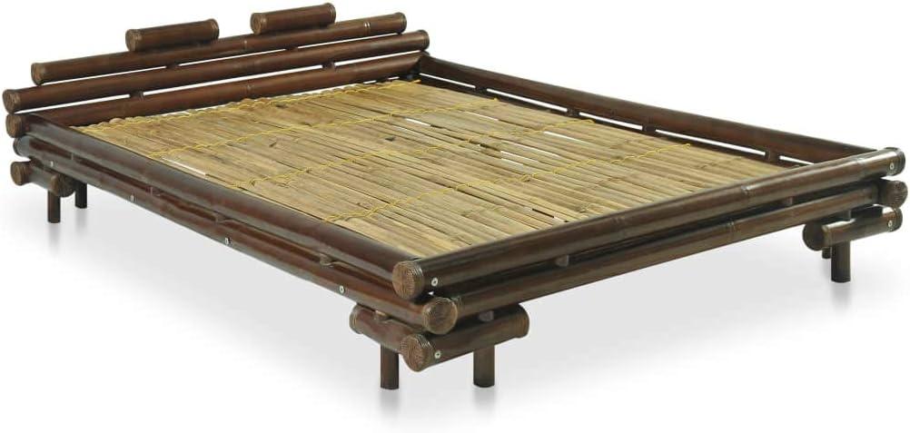 Doppelbett aus Bambus 140 x 200 cm Online kaufen