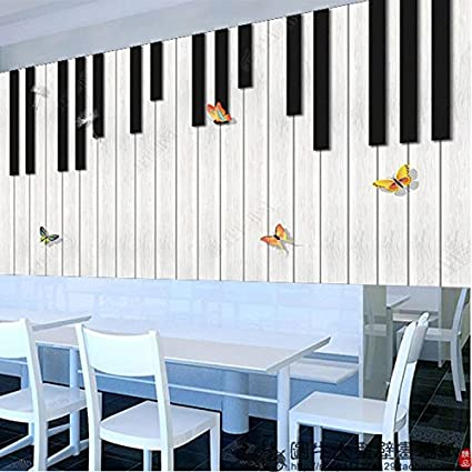 Aolomp Wallpaper Personalized large mural wall paper 3d Musical Instrument Music classroom wallpaper Seamless black-and-white piano-room wall.