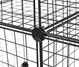 Amazon Basics 4 Cube Grid Wire Storage Shelves, Black
