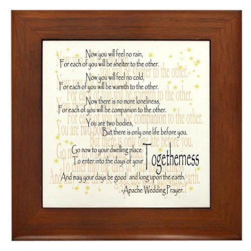CafePress - Apache Wedding Prayer - Framed Tile, Decorative Tile Wall Hanging ()