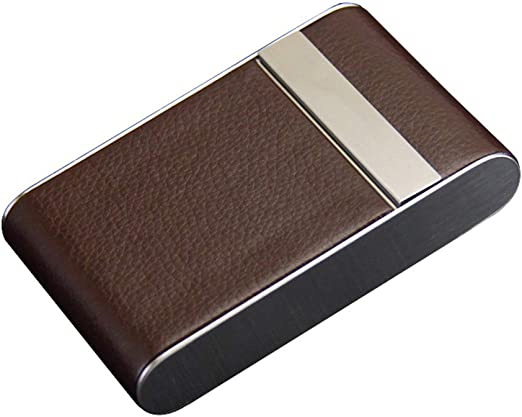 QJIAXING Estuche de Cigarrillos para 28 Palos Corcho de Metal Fino de Humo Portátil de Gran Capacidad Hebilla magnética Flip Cover Cajas de Cigarrillos Unisex,Brown,28sticks: Amazon.es: Hogar