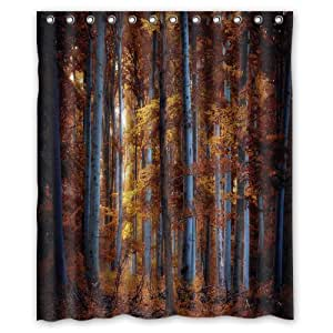"Innovation Design Trees Autumn Foliage Forest Shower Curtain Mildew Waterproof Polyester Fabric Bathroom Shower Curtain Size 60"" x 72"" Inch"