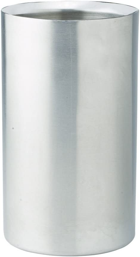 Winco WC-5, Double Wall Stainless Steel Wine Cooler, Satin Finish Tabletop Wine Bottle Chiller