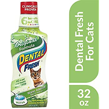 Dental Fresh Water Additive - Original Formula for Cats - Clinically Proven, Simply Add to Pet's Water Bowl to Whiten Teeth