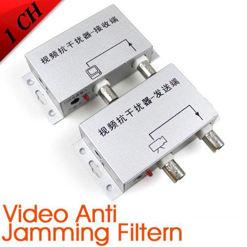MENGS® Convertidor de Adaptador de Filtro Anti Jamming con receptor/transmisor de vídeo para cámaras, de datos y vídeo combinados por cable coaxial: ...