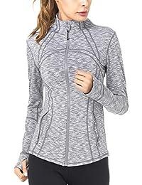 Queenie Ke Women's Sports Cottony-Soft Slim Fit Yoga Running Jacket