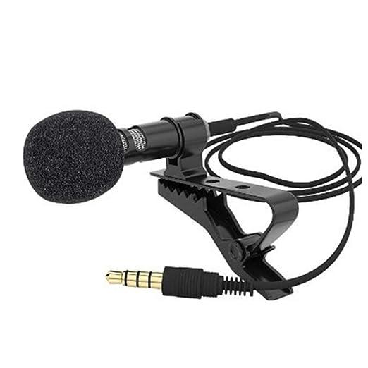 Mallalah - Micrófono de Condensador omnidireccional para Corbata ...