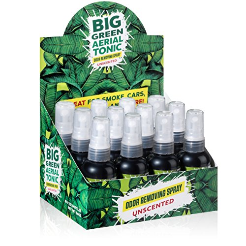 (Big Green Smoke Odor Eliminator Spray Unscented | Removes Smell from Cars, Bathrooms, Homes 2oz (Case of 12))