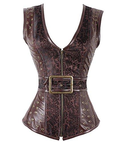 Women's Steampunk Steel Bone Waist Trainer Corsets And Bustiers Bodyshaper ()