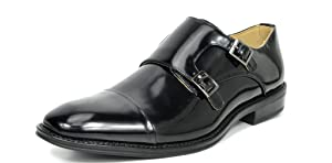 Bruno Marc London-01 Men's Classic Modern Oxfords Round-Toe Wingtip Comfort Lace Buckle Casual Dress Shoes Black Size 10.5