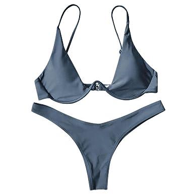 Rehao Mujer Traje de Baño, Sexy Ropa de baño Push-Up Bikini ...