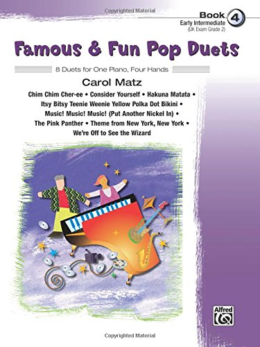 Download Famous & Fun Pop Duets, Bk 4: 8 Duets for One Piano, Four Hands pdf