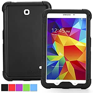 Samsung Galaxy Tab 4 8.0 Case - Poetic Samsung Galaxy Tab 4 8.0 Case [Turtle Skin Series] - [Corner/Bumper Protection] [Grip] [Sound-Amplification] Protective Silicone Case for Samsung Galaxy Tab 4 8.0 Black (3 Year Manufacturer Warranty From Poetic)